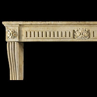 Louis XVI Antique Stone Fireplace Mantel | Westland London