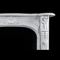 Panelled White Marble Louis XVI Fireplace | Westland Antiques