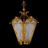 French Gilt Brass Glass Lantern | Westland London