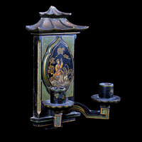 Antique Chinoiserie Lacquered Wall Light | Westland London