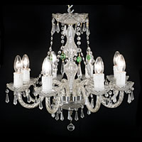 Georgian Style Cut Moulded Glass Chandelier | Westland London