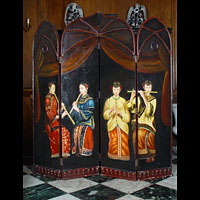Oriental Four Panel Room Screen | Westland London