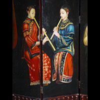 Gilbertian Four Fold Screen with Four maids