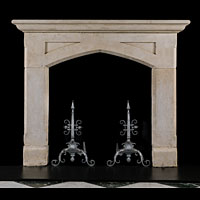 English Gothic Antique Stone Fireplace | Westland London