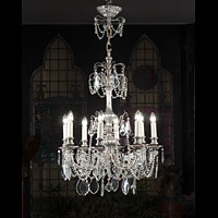 Silver Plated Classical Chandelier | Westland London