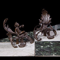 French Rococo Bronze Chenets | Westland Antiques