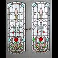 Antique Art Deco Stained Glass Doors