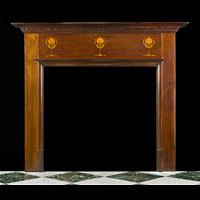Edwardian Inlaid Mahogany Fireplace Mantel | Westland Antiques