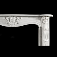 Rococo Statuary Marble Antique Fireplace | Westland London