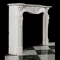 French Statuary Marble Antique Fireplace | Westland London