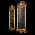 Pair Replica Chippendale Walnut Mirrors | Westland London