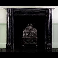 Black Marble Irish Regency Antique Fireplace | Westland London