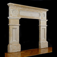 Victorian Limestone Antique Fireplace Mantel | Westland Antiques