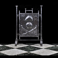 Arts And Crafts Antique Steel Fire Screen | Westland London