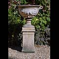 A Reconstituted Stone Urn And Plinth | Westland London.