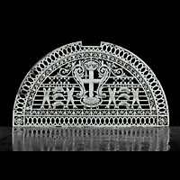 Antique Victorian  Billingsgate Fish Market  arched  grill