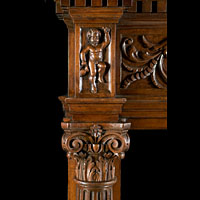 Walnut Wood Renaissance Fireplace | Westland Antiques