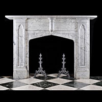 Neo Gothic Marble Antique Fireplace Mantel | Westland London
