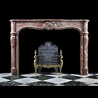 French Red Marble Antique Fireplace | Westland London
