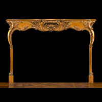 English Rococo Antique Wood Fireplace | Westland London
