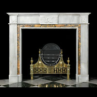 Georgian White Marble Fireplace Mantel | Westland Antiques