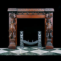 Jacobean Style Antique Oak Fireplace | Westland Antiques