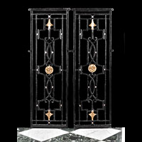 Pair Wrought Iron Bronze Gate Panels | Westland Antiques