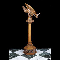 Art Deco Wood Eagle Oak Antique Lectern | Westland London