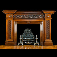 Large Victorian Antique Wood Fireplace Mantel | Westland Antiques