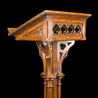 Oak Wood Arts And Crafts Antique Lectern | Westland London