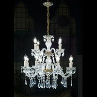 Large 16 Branch Crystal Chandelier | Westland London