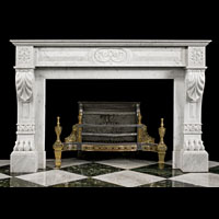 White Marble Lion Paw Antique Marble Fireplace | Westland London