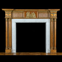 George III Antique Pine Wood Fireplace | Westland Antique
