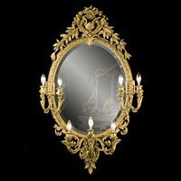 Large Antique Oval Girandole French Mirror | Westland London