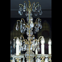 Large Bronze Cut Crystal Chandelier | Westland London.