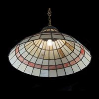 Art Deco Paired Stained Glass Ceiling Lights | Westland London