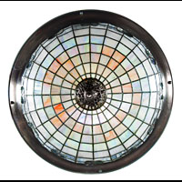 Art Nouveau Stained Glass Ceiling Light | Westland London