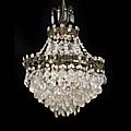 Edwardian Drops Beads Glass Bag Chandelier | Westland London