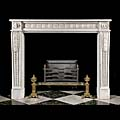 French Louis White Marble Antique Fireplace | Westland London