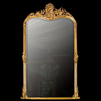 Large 19th Century Rococo Gilt Wood Mirror | Westland London