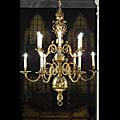 Baroque Antique Brass Chandelier | Westland London