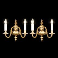 Dutch Set Four Twin Branch Wall Lights | Westland London