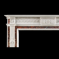 Neo Classical Style White Marble Fireplace | Westland Antiques