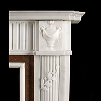 Neo Classical Style White Marble Fireplace | Westland London