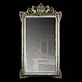 Dragon Silvered Louis XVI Antique Wall Mirror | Westland London