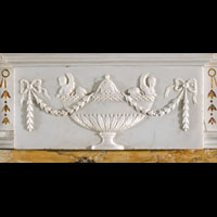 A Georgian Style Inlaid Marble Chimneypiece | Westland London