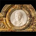 Sarrancolin Marble Baroque Juliet Fireplace | Westland Antique