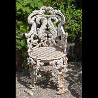 Set Four Cast Iron Rococo Garden Chairs | Westland London