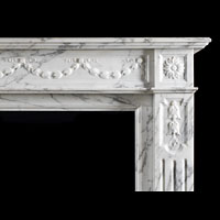 Arabascato Marble Louis XVI Antique Fireplace | Westland London