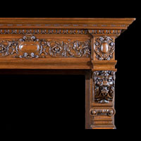 Baroque Antique Wood Fireplace Mantel | Westland Antiques